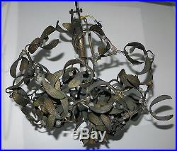1900' Lustre boule de gui art nouveau 4 lampes diametre 42