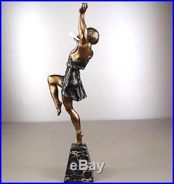 1920/1930 Limousin Rare Grde Statue Sculpture Chryselephantine Art Deco Danseuse