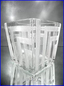 1930 Jean Luce Paris Rare Vase Gravé Au Sable Art Déco