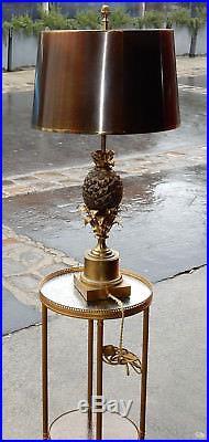 1950/70 Lampe A l' Ananas en Bronze en Laiton Signée Charles & Fils