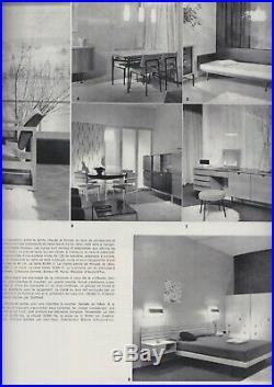 1950 ALAIN RICHARD TETE DE LIT & CHEVETS MODERNISTE Reconstruction Perriand
