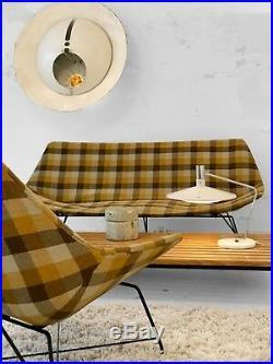 1950 Augusto Bozzi Saporiti Canape Sofa + Fauteuil Moderniste Bauhaus Space-age