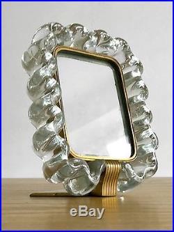 1950 Gio Ponti Venini Murano Miroir Sculpture Moderniste Bronze Shabby-chic