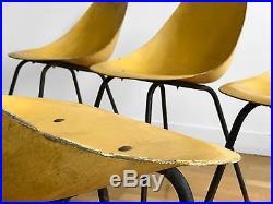 1950 JEAN-RENE CAILLETTE 6 CHAISES MODERNISTE BAUHAUS CONSTRUCTIVISTE Guariche