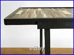 1950 MADO JOLAIN TABLE CERAMIQUE MODERNISTE BAUHAUS FORME LIBRE Vallauris