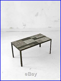 1950 Mado Jolain Table Basse Moderniste Bauhaus Ceramique Vallauris