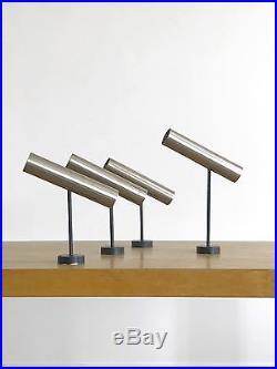 1950 Rj Caillette Parscot 4 X Applique Moderniste Bauhaus Forme-libre