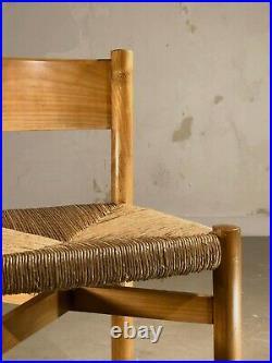 1960 CHARLOTTE PERRIAND CHAISE MERIBEL MODERNISTE RECONSTRUCTION Prouvé