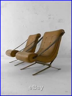 1960 Gianni Moscatelli Formanova 2 Fauteuils Moderniste Constructiviste Bauhaus