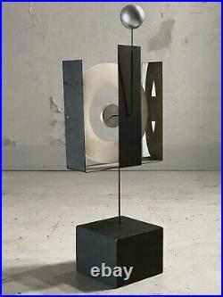 1970-1980 Rene Lamoureux Sculpture Cinetique Moderniste Memphis Mobile