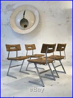 1970 4 CHAISES SCULPTURE BAUHAUS CONSTRUCTIVISTE MEMPHIS Rietveld De Stijl