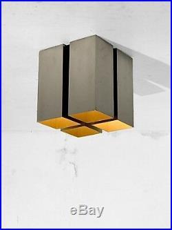1970 Concord Plafonnier Moderniste Space-age Bauhaus Constructivist Newlamp Fini