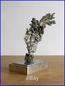 1970 Jansen Sculpture Corail Moderniste Forme Libre Bronze Shabby-chic