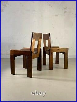 1970 ROCHE & BOBOIS 2 CHAISES POST-MODERNISTE Mangiarotti Tobia Scarpa Enzo Mari