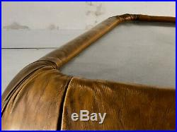 1970 TABLE BASSE ACIER CUIR POST-MODERNISTE SPACE-AGE Kappa Tobia Scarpa