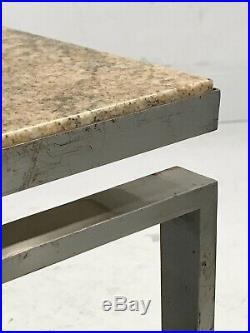 1970 TABLE BASSE MARBRE MODERNISTE CONSTRUCTIVISTE BAUHAUS Kjaerholm