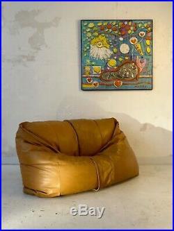 1970 ZANOTTA GRAND FAUTEUIL SACO SOFA POST-MODERNISTE SPACE-AGE Tobia Scarpa