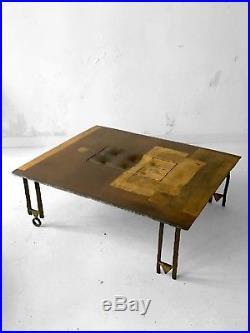 1990 Argueyrolles Table Basse Sculpture Brutalist Moderniste Memphis Shabby-chic
