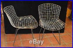 2 Chaises Bertoia Design Harry Bertoia Par Knoll Annees 1952