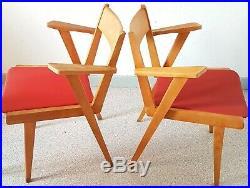 2 Fauteuils Vintage Au Design Scandinave Des Annees 50 Dlg De J. Hitier. T. B. E