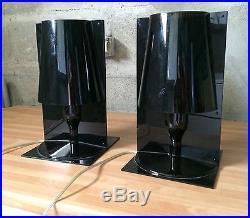 2 LAMPE KARTELL TAKE Polycarbonate noir et brune design F. Laviani