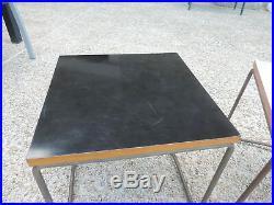 2 TABLE VOLANTE 1950 PIERRE GUARICHE pour STEINER DESIGN VINTAGE 2 bout canapé