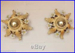 2 applique Murano lustre années 50/60 métal paire