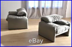 2 fauteuils Maralunga de Vico Magistretti édition Cassina