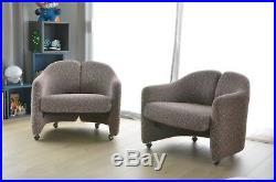 2 fauteuils PS142 d'Eugenio Gerli pour Tecno paulin guariche vintage knoll