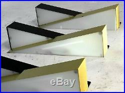 3 APPLIQUES MODERNISTE CONSTRUCTIVISTE FORME LIBRE Arteluce Stilnovo Biny