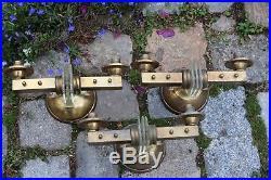 3 Appliques Art Déco Modernistes laiton Bronze et verre à nettoyer PERZEL