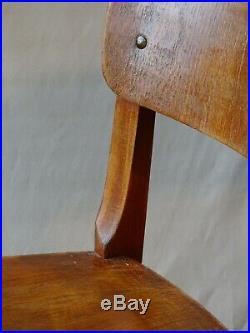 3 chaises Reconstruction genre Prouvé Perriand 1950 1955