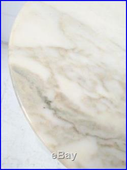 41cm 1970s ROUND KNOLL EERO SAARINEN TULIP SIDE TABLE GUERIDON MARBRE MARBLE