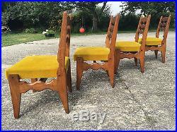 4 Chaises Des Annees 1950 Design Vintage Guillerme & Chambron