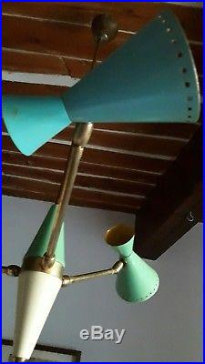 4eme suspension italie 50's STILNOVO arteluce arredoluce era. Sputnik