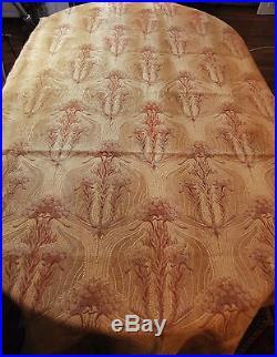 5m50 Tissu Jacquard époque 1900 Art-Nouveau motifs ombellifères