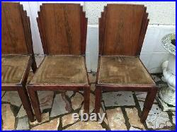 6 chaises Art Déco Palissandre Epoque 1925