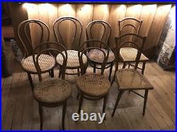 7 Chaises de Bistrot Style THONET