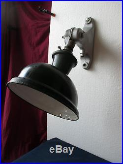 Ancienne Lampe Applique De Cour Industrielle Articulee Deco Loft