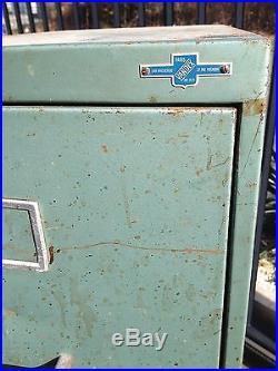 ANCIEN CLASSEUR MÉTALIQUE VANDEX des années 60 à 4 tiroirs meuble industriel