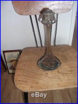 ART NOUVEAU. ECOLE DE NANCY PIED DE LAMPE BRONZE. SignéP. FOLLOT. 1877.1941