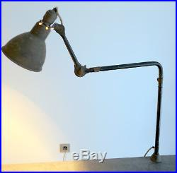 AUTHENTIQUE ET GRANDE LAMPE GRAS RAVEL FIXE 403 Prouvé Le Corbusier Atelier