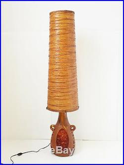 Accolay Georges Pelletier Lampe Geante En Ceramique & Resine 1960 Vintage 60's