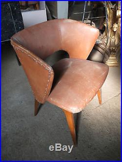 Ancien Fauteuil Scandinave Vintage design xx eme french antique