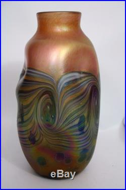 Ancien Grand Vase Verre Irise Signe Loetz Art Nouveau Jugendstil Phanomen Lotz