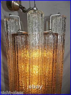 Ancien Lustre Design 70 Tubes En Verre De Murano Vénini-chandelier Glass/n°t30