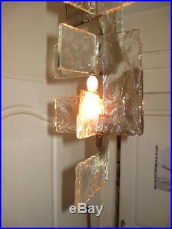 Ancien Lustre Mazzega Designer Carlo Nason Murano Italy-interlocking Glass C