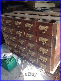 Ancien Meuble De Métier 25 Tiroirs