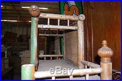 Ancien Meuble Etagere En Bambou