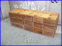 Ancien Meuble de Métier en bois Année 1950 Meuble D'école 12 Tiroirs
